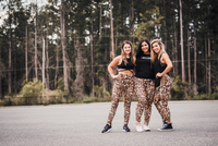 Women's Cheetah Butt Scrunch Leggings with a Booty Shaping Effect.