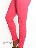 Women's Coral Pink Butt Scrunch Leggings with a Booty Shaping Effect, Scrunch on legs