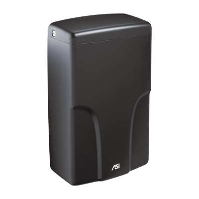 ASI 0196 TURBO-Pro™ HIGH-SPEED ADA HAND DRYER-Our Hand Dryer Manufacturers-ASI (American Specialties, Inc.)-120 VAC, 50/60 Hz-Black-Allied Hand Dryer
