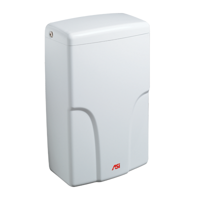 ASI 0196 TURBO-Pro™ HIGH-SPEED ADA HAND DRYER-Our Hand Dryer Manufacturers-ASI (American Specialties, Inc.)-120 VAC, 50/60 Hz-White-Allied Hand Dryer