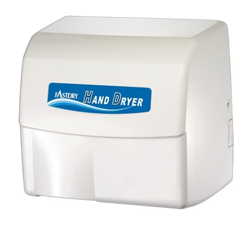 HK1800EA, FastDry Automatic White Metal Hand Dryer-Our Hand Dryer Manufacturers-FastDry-110/120 Volt hard wired-Allied Hand Dryer