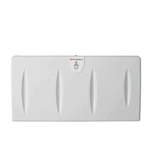 Foundations 100-EH Surface-Mounted, Horizontal-Folding Light Gray Baby Changing Station - Allied Hand Dryer