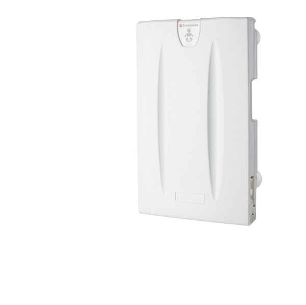 Light Gray Foundations Classic Vertical Surface Mount Baby Changing Station