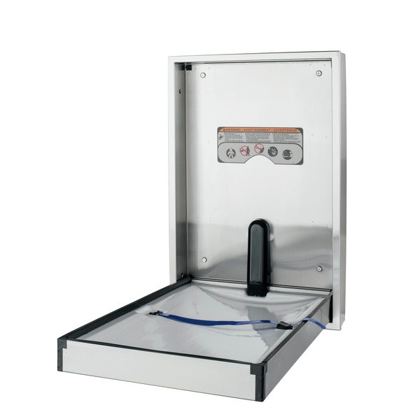 Foundations 100SSV-SM Surface-Mounted, Vertical-Folding Full Stainless Steel Baby Changing Station-Our Baby Changing Stations Manufacturers-Foundations-Allied Hand Dryer