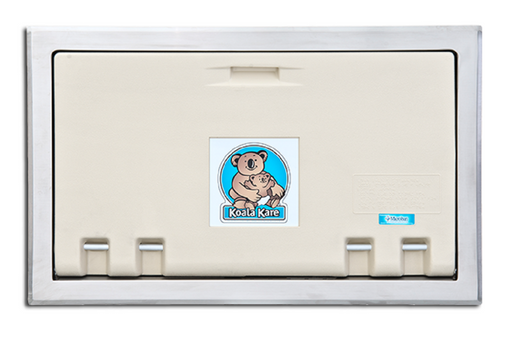 KB100-00ST, KOALA Recessed Horizontal Baby Changing Station in Cream
