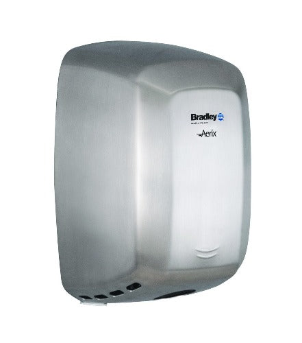 Bradley Aerix Model 2901-2874 Adjustable Speed Hand Dryer - Satin Stainless Steel