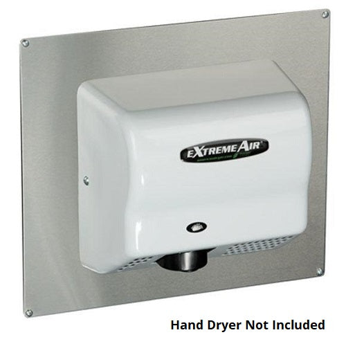AP, American Dryer - Stainless Steel Adapter Plate for GX, GXT9, EXT9, CPC9, & AD90 - DOES NOT INCLUDE HAND DRYER