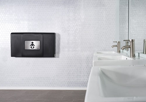 200-EH-02 ULTRA Surface-Mounted, Horizontal-Folding Baby Changing Station (Black & Stainless) with EZ Mount Backer Plate-Foundations-Allied Hand Dryer