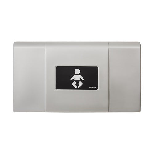 200-EH-04 ULTRA Surface-Mounted, Horizontal-Folding Baby Changing Station (Metallic & Black)  with EZ Mount Backer Plate - Allied Hand Dryer