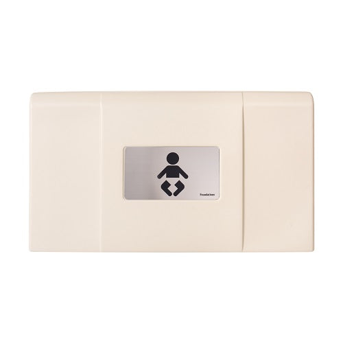 200-EH-08 ULTRA Surface-Mounted, Horizontal-Folding Baby Changing Station (Cream & Stainless) with EZ Mount Backer Plate-Our Baby Changing Stations Manufacturers-Foundations-Allied Hand Dryer