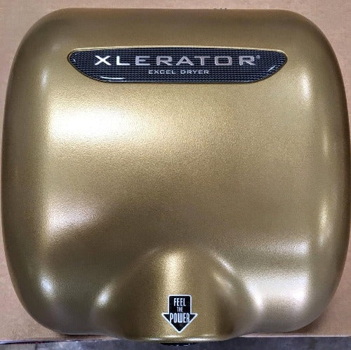 "XL-SP ""GOLD"", XLERATOR Excel Dryer Textured Gold Epoxy - Special Color on Zinc Alloy"
