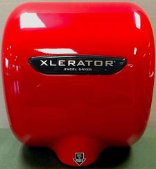 "XL-SP ""RED"", XLERATOR Excel Dryer Textured RED Epoxy - Special Color on Zinc Alloy"