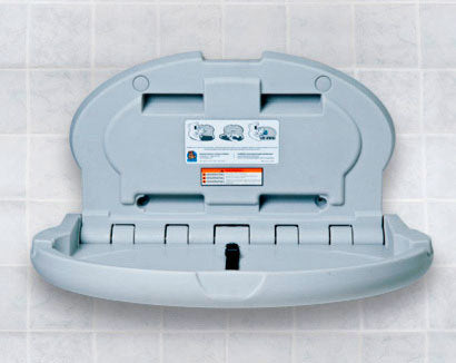 KB208-01, KOALA Grey OVAL Baby Changing Station - Horizontal-Our Baby Changing Stations Manufacturers-Koala-Allied Hand Dryer