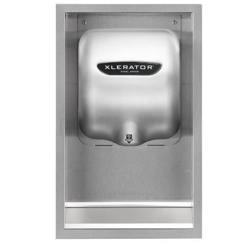40502, Excel XLERATOR Stainless Steel ADA Recess Kit (DOES NOT INCLUDE HAND DRYER) - Allied Hand Dryer
