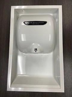 40502, Excel XLERATOR White ADA Recess Kit (DOES NOT INCLUDE HAND DRYER)-Excel-Allied Hand Dryer