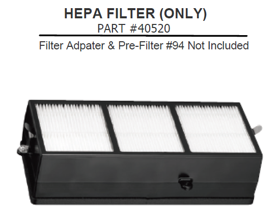 40520, Excel XLERATOR Certified HEPA Filter (Replacement Only) - PART #40520
