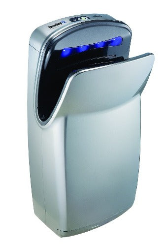 Bradley Aerix+ Model 2921-S, High-Speed, Vertical Dual-Sided Hand Dryer - 110V/120V Silver