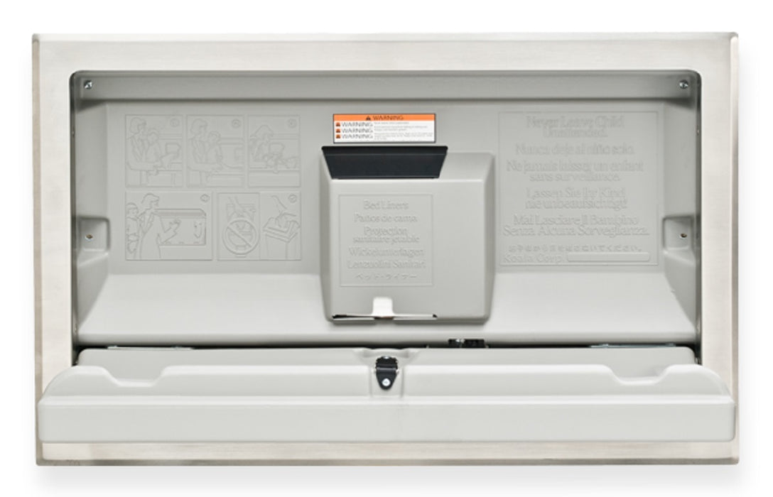 KB100-01ST, KOALA Recessed Horizontal Gray Baby Changing Station