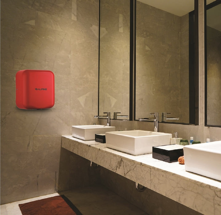 ALPINE 400-10-RED HEMLOCK Stainless Steel Red High-Speed Hand Dryer