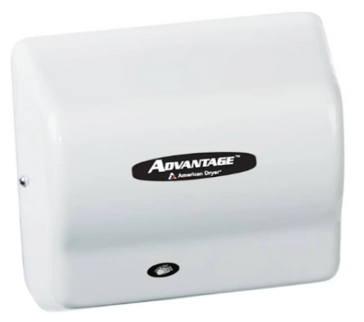 AMERICAN DRYER® AD90 Advantage AD® HAND DRYER - White ABS Auto Universal Voltage