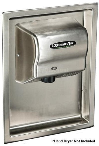 ADA-RK, American Dryer - Stainless Steel RECESS KIT for GX, GXT, EXT, CPC, & AD90 Series - DOES NOT INCLUDE HAND DRYER-Our Hand Dryer Manufacturers-American Dryer-Allied Hand Dryer