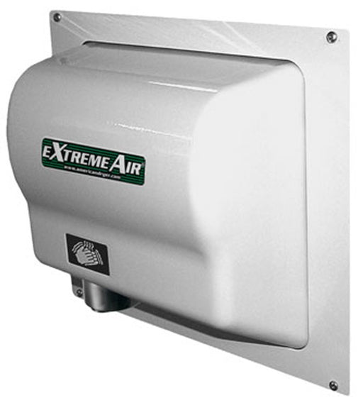 ADA-W, American Dryer - White Steel RECESS WALL BOX for GX, GXT, EXT, CPC, & AD90 Series - DOES NOT INCLUDE HAND DRYER-Our Hand Dryer Manufacturers-American Dryer-Allied Hand Dryer