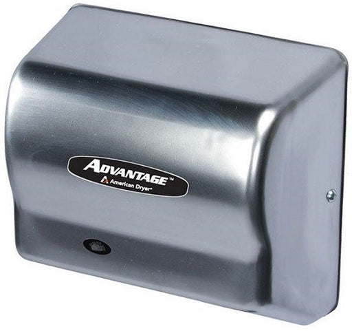 AD90-C, American Dryer Advantage Steel Satin Chrome - Auto - Universal Voltage-Our Hand Dryer Manufacturers-American Dryer-Hand Dryer (100-240V)-Allied Hand Dryer
