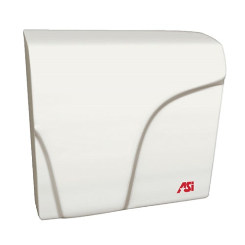 0165, ASI Profile Collection Aluminum White Epoxy Compact ADA Automatic Hand Dryer-ASI (American Specialties, Inc.)-Allied Hand Dryer