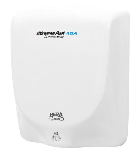AXT-DW, eXtremeAir ADA American Dryer Aluminum White Epoxy Universal Voltage ADA-Our Hand Dryer Manufacturers-American Dryer-Allied Hand Dryer