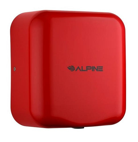 ALPINE 400-10-RED HEMLOCK Stainless Steel Red High-Speed Hand Dryer-Alpine Industries-Allied Hand Dryer