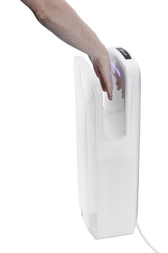 ALPINE ALP404-WHI OAK High-Speed, Surface-Mounted, Hands-In Hand Dryer-Alpine Industries-Allied Hand Dryer