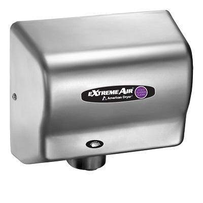 CPC9-C, American Dryer ExtremeAir - Steel Satin Chrome - Universal Voltage - Cold Plasma-Our Hand Dryer Manufacturers-American Dryer-Allied Hand Dryer