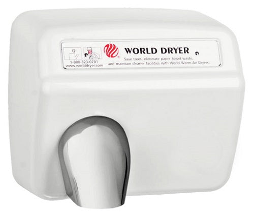 DXA5-974, World Dryer Automatic Stamped Steel White-World Dryer-Allied Hand Dryer