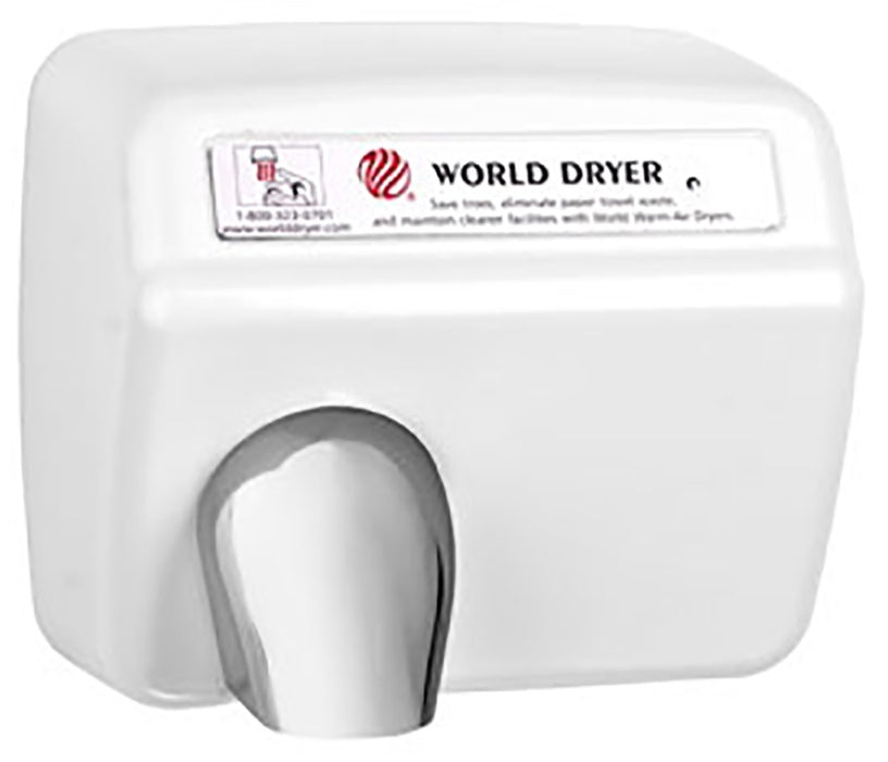 XA54-974, World Dryer Automatic Cast Iron White (208V-240V)-World Dryer-Allied Hand Dryer