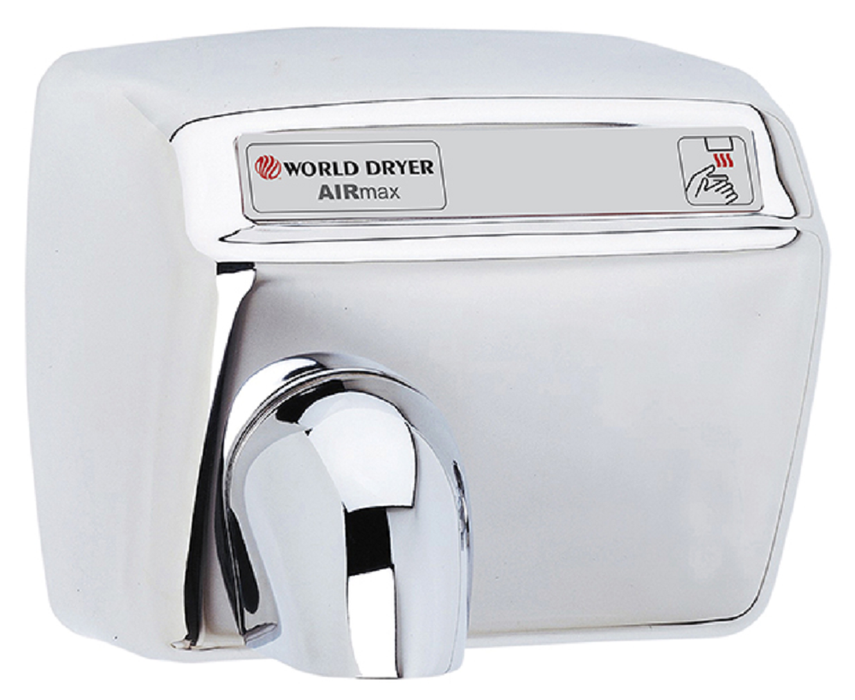 DXM54-972, AirMax World Dryer Automatic, Polished Stainless Steel (208V-240V)-World Dryer-Allied Hand Dryer