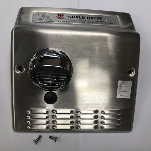 WORLD DXRA54-Q973 (208V-240V) COVER ASSEMBLY COMPLETE (Part# 713DXA)-World Dryer-Allied Hand Dryer