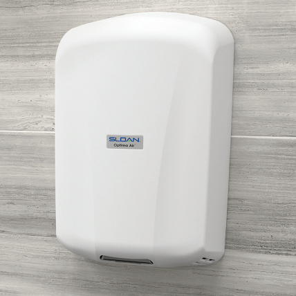 EHD-701-PW, Sloan Optima Air White Surface Mounted ADA-Complaint Hand Dryer-Our Hand Dryer Manufacturers-Sloan-EHD-701-PW - 110-120 Volt-Allied Hand Dryer