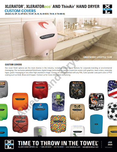 XL-SI, XLERATOR Hand Dryer by Excel Dryer - Custom Image Covers on Zinc Alloy - Personalize It!-Our Hand Dryer Manufacturers-Excel-110-120 Volt-Allied Hand Dryer