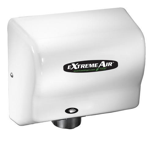 EXT7, American eXtremeAir - White ABS - Energy Efficient ECO (No Heat) - Universal Voltage - Automatic-American Dryer-Allied Hand Dryer