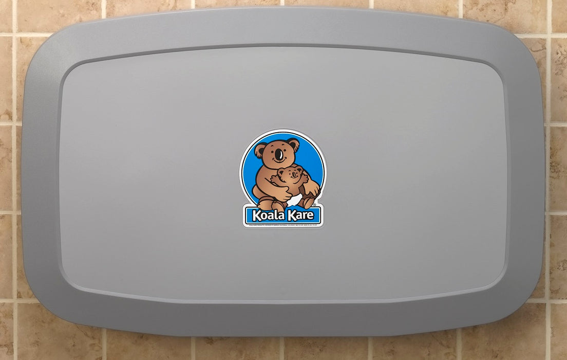 Koala Kare® KB200-01 - Surface Horizontal Grey Baby Changing Station