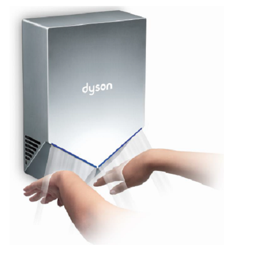 Dyson Airblade HU02 V Series Hand Dryer in Sprayed Nickel-Our Hand Dryer Manufacturers-Dyson-Low Voltage (110V/120V), #307174-01-Allied Hand Dryer