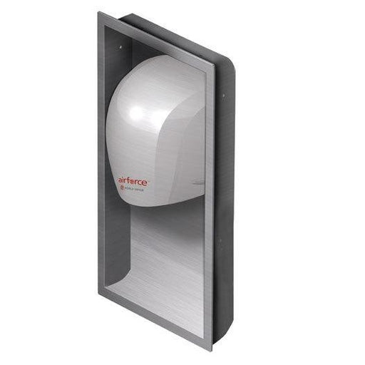 WORLD DRYER® KJR-973 Airforce™ J-Series RECESS KIT - Stainless Steel Brushed (Satin) Finish (HAND DRYER NOT INCLUDED)