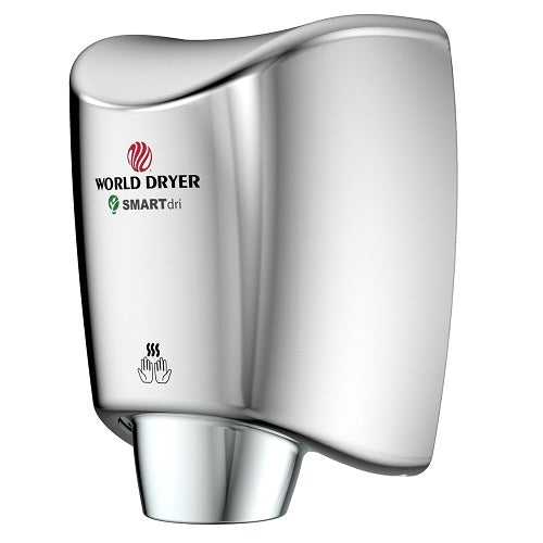 WORLD DRYER® K-970P SMARTdri® Plus Hand Dryer - Polished Chrome on Aluminum Automatic Surface-Mounted