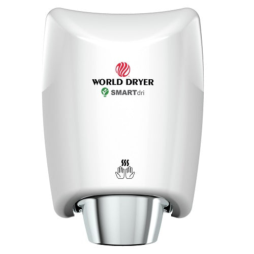 WORLD DRYER® K-974P SMARTdri® Plus Hand Dryer -  White Epoxy on Aluminum Automatic Surface-Mounted