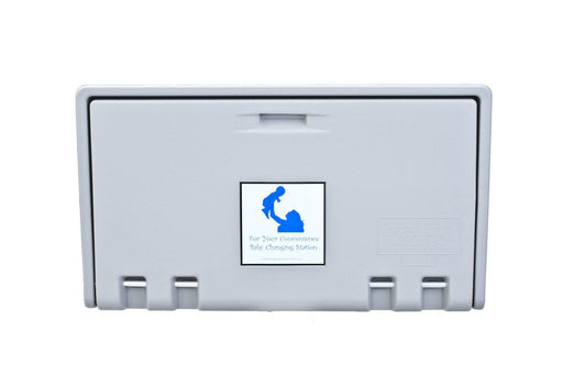 AHD 100-01 Gray Horizontal Baby Changing Station-Our Baby Changing Stations Manufacturers-AHD-Allied Hand Dryer
