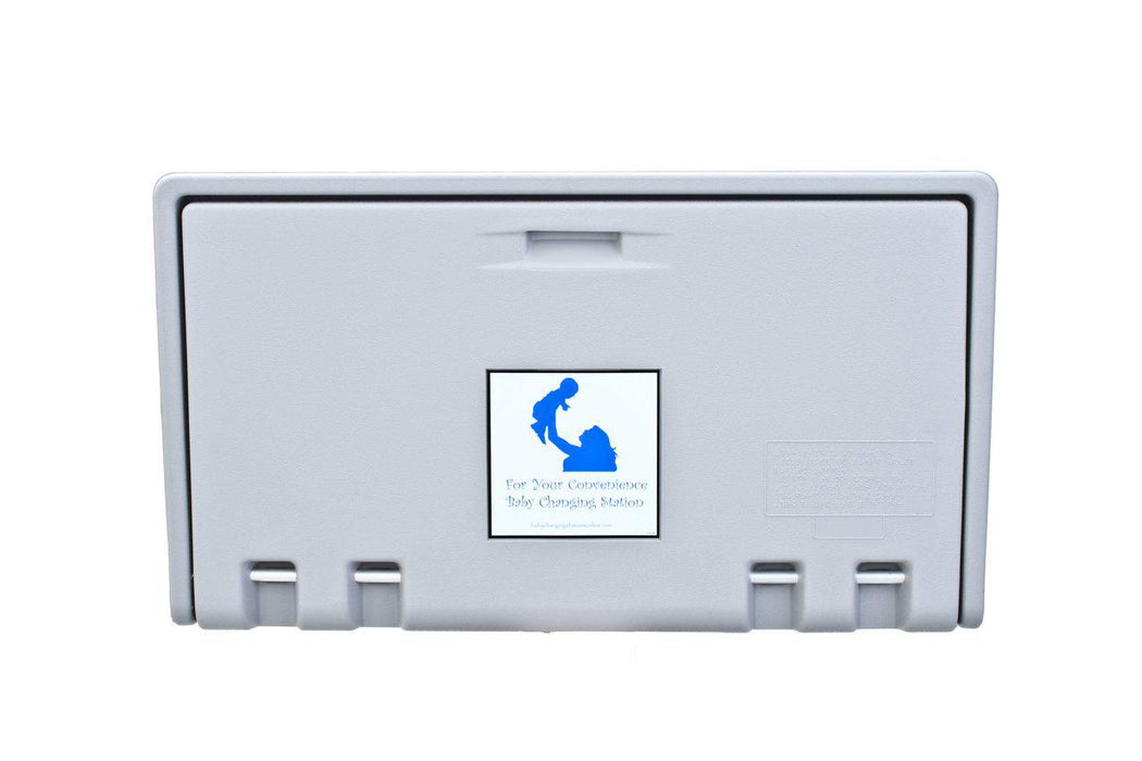 ahd 100 01 gray horizontal baby changing station - Baby Changing Station