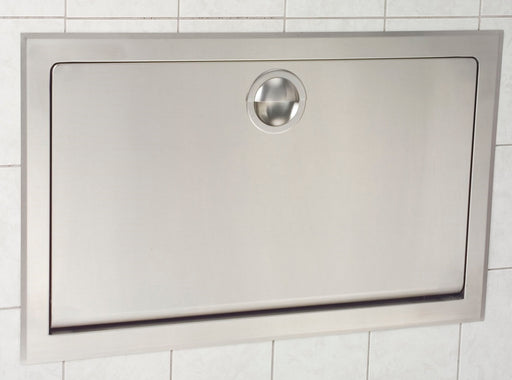 OUT OF STOCK  (CALL FOR UPDATES) Koala Kare® KB110-SSRE - Recessed Horizontal Stainless Steel Baby Changing Station KB110-SSRE