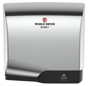 <strong>CLICK HERE FOR PARTS</strong> for the L-970 SLIMdri World Dryer Automatic Polished Chrome on Aluminum