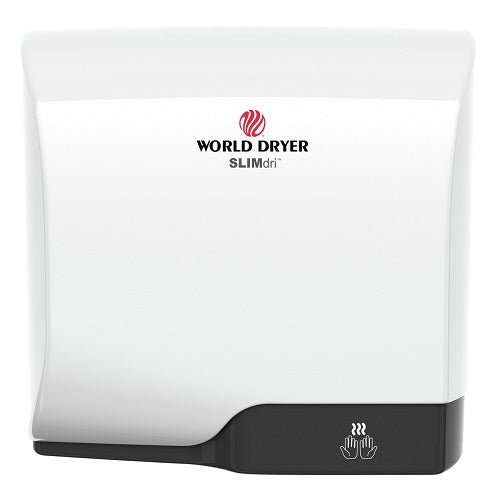 WORLD DRYER® L-974 SLIMdri™ Hand Dryer - White Epoxy on Aluminum Automatic Universal Voltage Surface-Mounted ADA Compliant