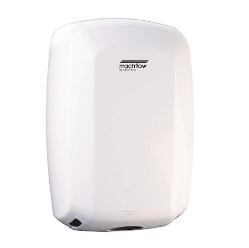 Saniflow M09A MACHFLOW Hand Dryer - White Epoxy on Steel High-Speed Universal Voltage-Saniflow-Allied Hand Dryer
